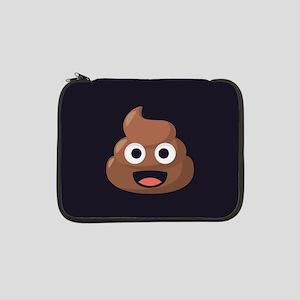 """Poop Emoji 13"""" Laptop Sleeve"""