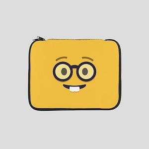 "Nerdy Emoji Face 13"" Laptop Sleeve"