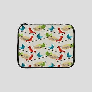 """Mid Century Birds 13"""" Laptop Sleeve"""