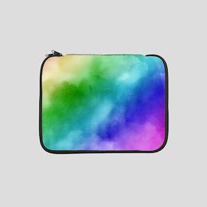 "Rainbow Watercolors 13"" Laptop Sleeve"