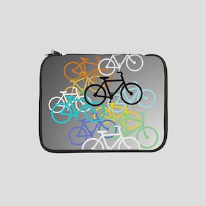 "Colored Bikes Design 13"" Laptop Sleeve"