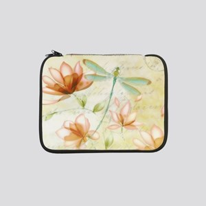 """Pink flowers and dragonfly 13"""" Laptop Sleeve"""