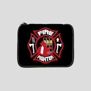 "Modern Firefighter Badge 13"" Laptop Sleeve"