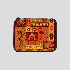 "African Traditional Ornament 13"" Laptop Sleeve"
