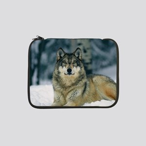 "Wolf In The Snow 13"" Laptop Sleeve"