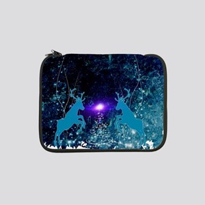 """Awesome reindeer with christmas tree 13"""" Laptop Sl"""