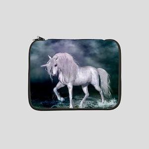 "Wonderful unicorn on the beach 13"" Laptop Sleeve"