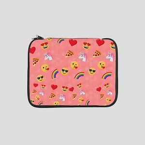 """Emoji Pink Pattern 13"""" Laptop Sleeve"""
