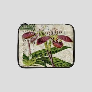 "vintage orchid french botanical 13"" Laptop Sleeve"