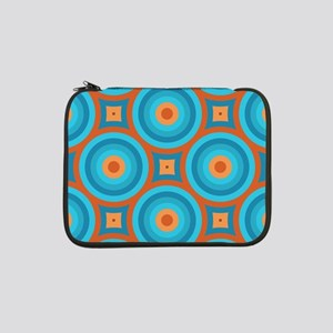 "Orange and Blue Mid Century Modern 13"" Laptop Slee"