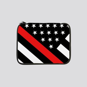 """Firefighter Flag: Thin Red Line 13"""" Laptop Sleeve"""