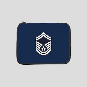 "USAF: SMSgt E-8 (Blue) 13"" Laptop Sleeve"