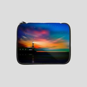 "Sunrise Over The Sea And Lighthouse 13"" Laptop Sle"