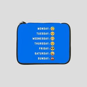 """Emoji Days of the Week 13"""" Laptop Sleeve"""