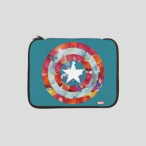 """Captain America Tie-Dye Shield 13"""" Laptop Sleeve"""
