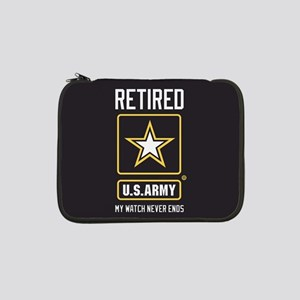 "US Army Retired Watch Never Ends 13"" Laptop Sleeve"