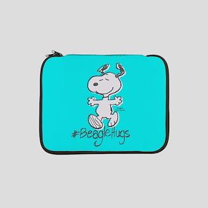"Snoopy Beagle Hugs Full Bleeds 13"" Laptop Sleeve"