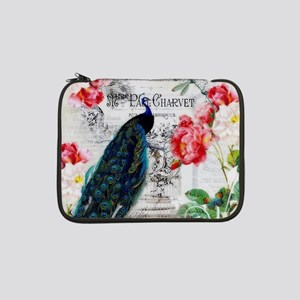 """Peacock and roses 13"""" Laptop Sleeve"""