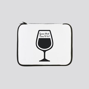 "Guess What Time - WINE 13"" Laptop Sleeve"
