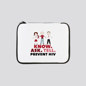 """Know.Ask.Tell.Prevent HIV 13"""" Laptop Sleeve"""
