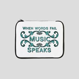 """Music Speaks 13"""" Laptop Sleeve"""