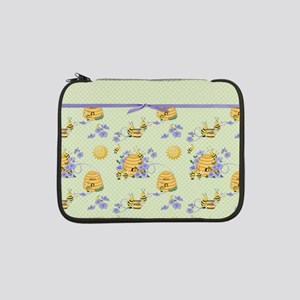 "Bee Dance Floral 13"" Laptop Sleeve"