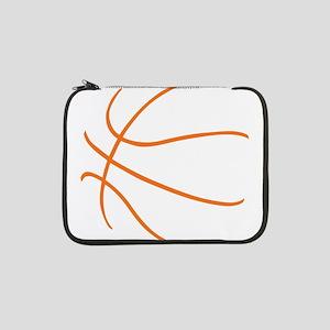 "Basketball Ball Lines Orange 13"" Laptop Sleeve"