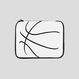 "Basketball Ball Lines Black 13"" Laptop Sleeve"