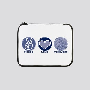 "Peace Love Volleyball 13"" Laptop Sleeve"