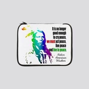 "Live in Peace 13"" Laptop Sleeve"