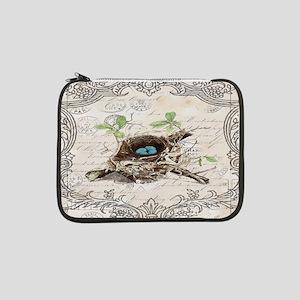 "vintage bird nest french botanical art 13"" Laptop"