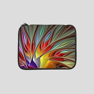 """Fractal Bird of Paradise 13"""" Laptop Sleeve"""