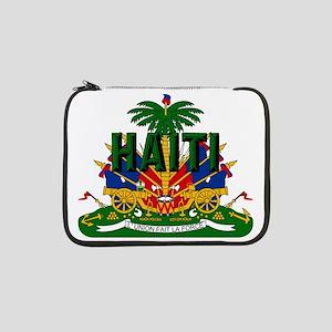 "Haitian Coat of Arms 13"" Laptop Sleeve"