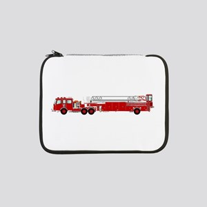 """Fire Truck - Traditional ladder 13"""" Laptop Sleeve"""