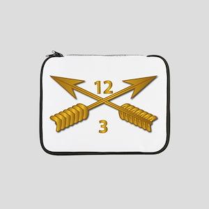 """3rd Bn 12th SFG Branch wo Txt 13"""" Laptop Sleeve"""