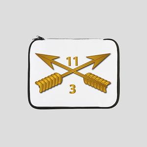 """3rd Bn 11th SFG Branch wo Txt 13"""" Laptop Sleeve"""