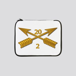 "2nd Bn 20th SFG Branch wo Txt 13"" Laptop Sleeve"