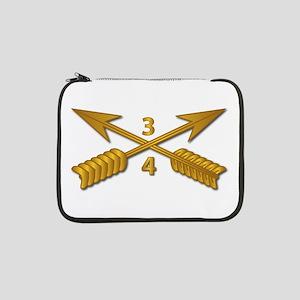"""4th Bn 3rd SFG Branch wo Txt 13"""" Laptop Sleeve"""
