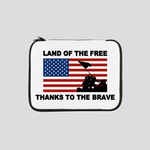"Land Of The Free Thanks To The Brave 13"" Laptop Sl"