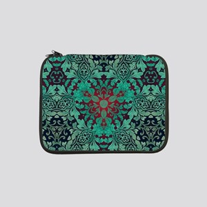 "rustic bohemian damask pattern  13"" Laptop Sleeve"
