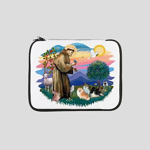 "St.Francis #2/ Pomeranian(3) 13"" Laptop Sleev"