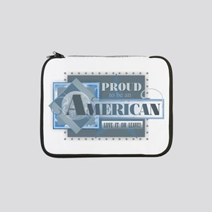"""Proud to be an American 13"""" Laptop Sleeve"""