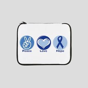 "Peace Love Blue Hope 13"" Laptop Sleeve"