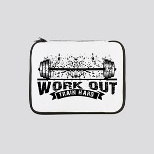 """Work Out Train Hard 13"""" Laptop Sleeve"""