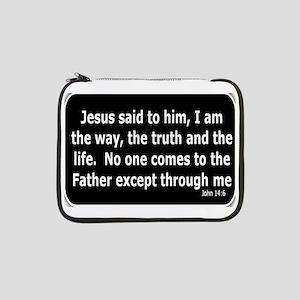 """Jesus said to him 13"""" Laptop Sleeve"""