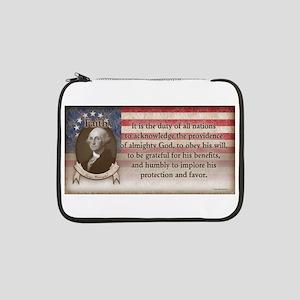"George Washington - Faith 13"" Laptop Sleeve"
