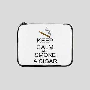 "Keep Calm And Smoke A Cigar 13"" Laptop Sleeve"