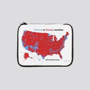 "Trump vs Clinton Map 13"" Laptop Sleeve"
