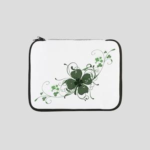 "Elegant Shamrock Design 13"" Laptop Sleeve"