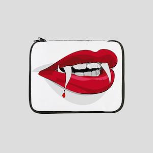 "Halloween Vampire Teeth 13"" Laptop Sleeve"